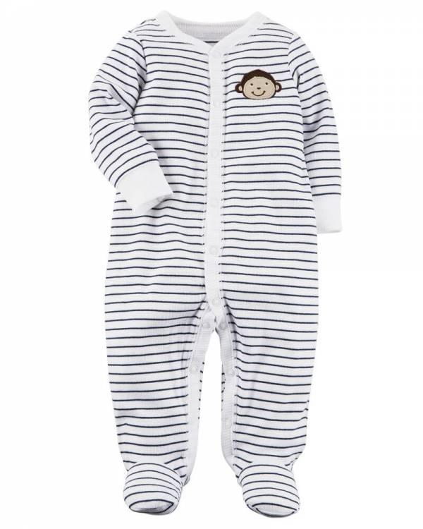 Нов, неотпакуван, големина 9M, Carter's Monkey Snap-Up Cotton Sleep & Play
