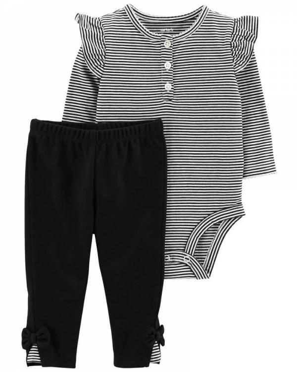 Ново, неотпакувано, големина 9M, Carter's 2-Piece Bodysuit Pant Set