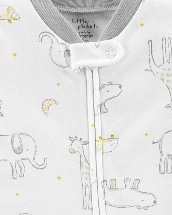 Ново, неотпакувано, големина 3M, Carter's Certified Organic Cotton Snap-Up Sleep & Play